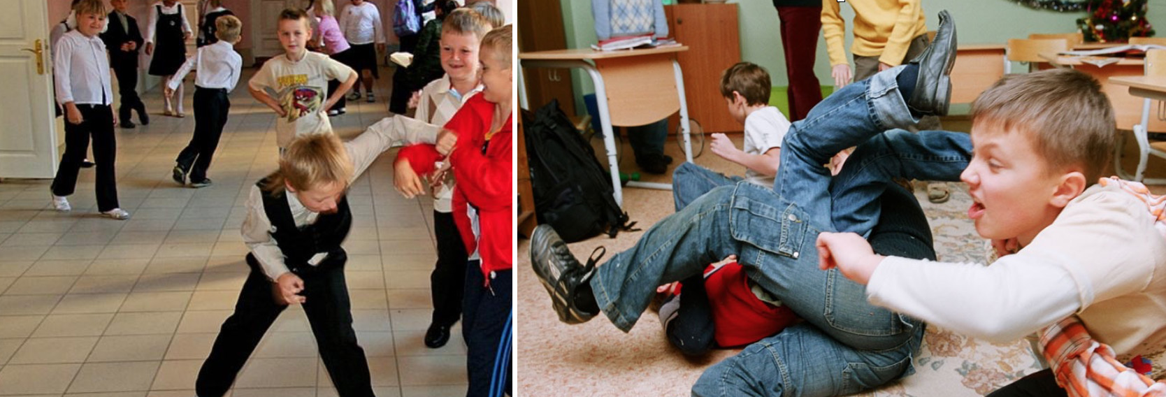 драки в нчальной школе