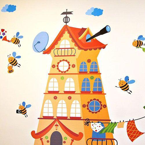 Оформления стен детского центра Улей