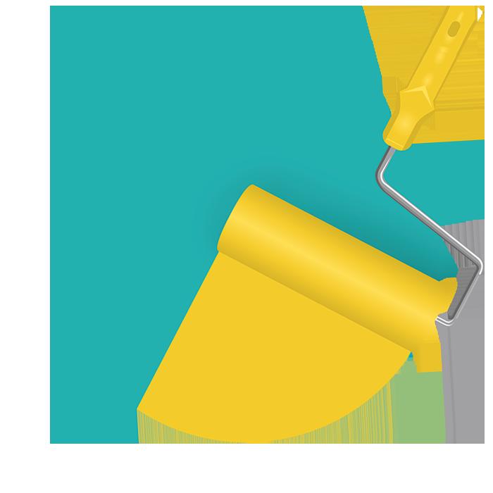 «Правильная» покраска уже может в корне изменить ощущение пространства! Мы можем сделать для вас проект окраски стен: разработать колористическую схему и инструкцию с перечислением всех колеров, просчитать расход красок. С таким проектом вы сможете точно рассчитать бюджет на окраску и поручить её любому квалифицированном подрядчику.