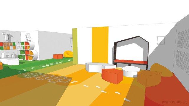 Изображение 7 - дизайн коридора и дизайн класса начальной школы