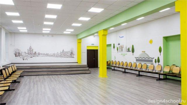 Изображение 1 - оформление гардероба и актового зала начальной школы
