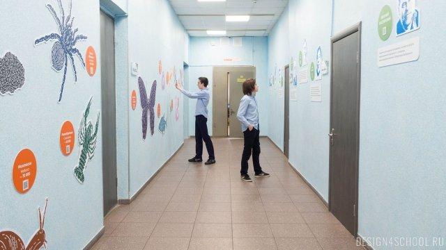 Изображение 1 - дизайн стен школьного фойе, коридоров и рекреации