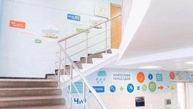 Изображение 18 - дизайн стен школьного фойе, коридоров и рекреации