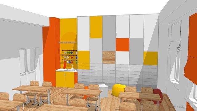 Изображение 12 - дизайн коридора и дизайн класса начальной школы