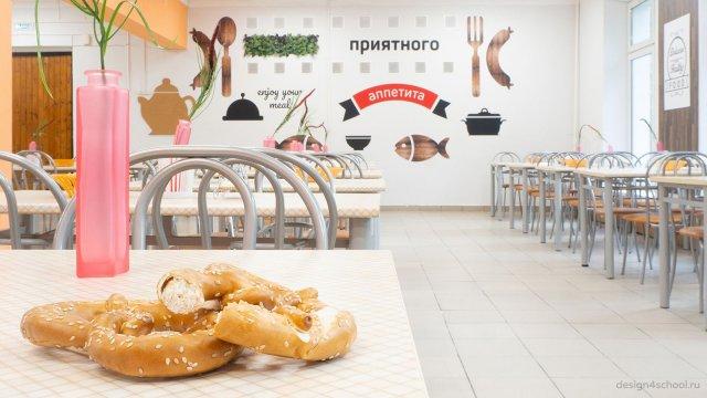 Изображение 2 - дизайн стен столовой старшей школы