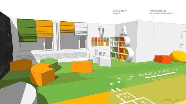 Изображение 5 - дизайн коридора и дизайн класса начальной школы