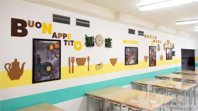 Изображение 1 - дизайн школьной столовой