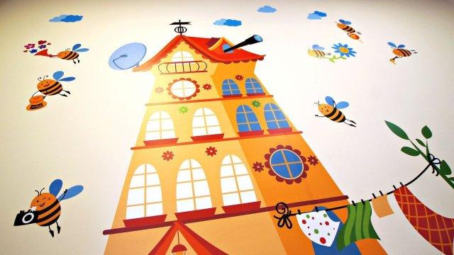 Изображение 11 - Оформления стен детского центра Улей