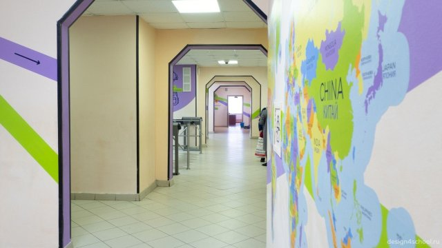 Изображение 5 - оформление холла школы, гардероб и стенды