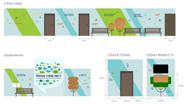 Изображение 1 - оформление 1-го этажа  СОШ №17