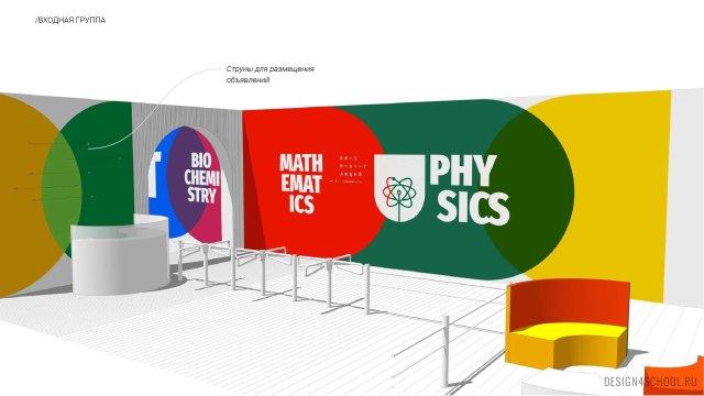 Изображение 4 - Фирменный стиль и концепт образовательного пространства в физико-математическом лицея.