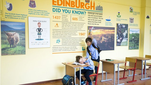 Изображение 1 - дизайн кабинетов английской школы