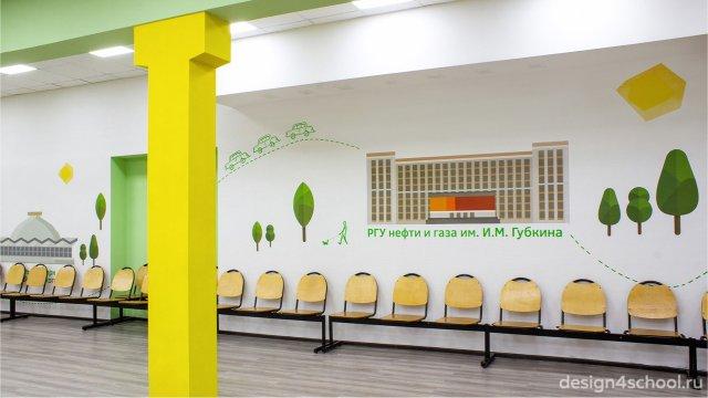 Изображение 2 - оформление гардероба и актового зала начальной школы
