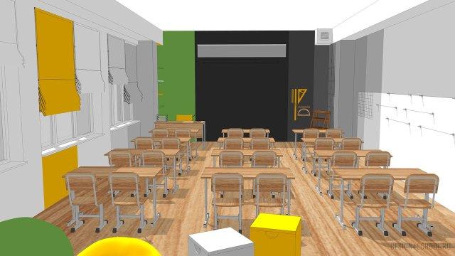 Изображение 13 - дизайн коридора и дизайн класса начальной школы