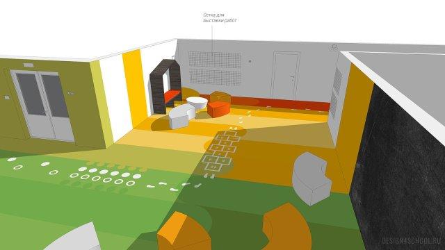 Изображение 6 - дизайн коридора и дизайн класса начальной школы