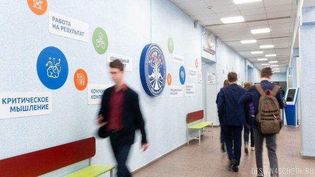Изображение 2 - дизайн стен школьного фойе, коридоров и рекреации